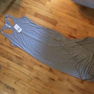 NEVER WORN Fabletics Gray Racerback Maxi Dress